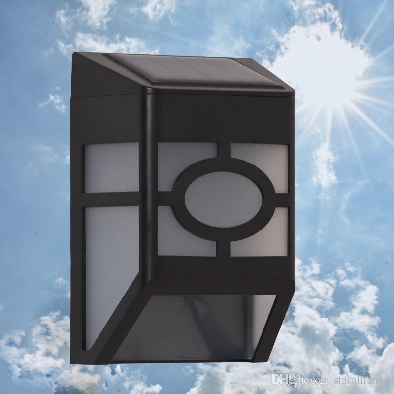 2017 Outdoor Led Solar Wall Lamp Black Waterproof Garden Street Decorative Wall Lights Solar ...