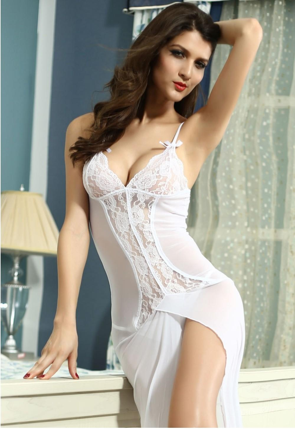 Women Clothing Bride to Be Sleepwear Gown LC6143 Sleep Dress Sexy ...