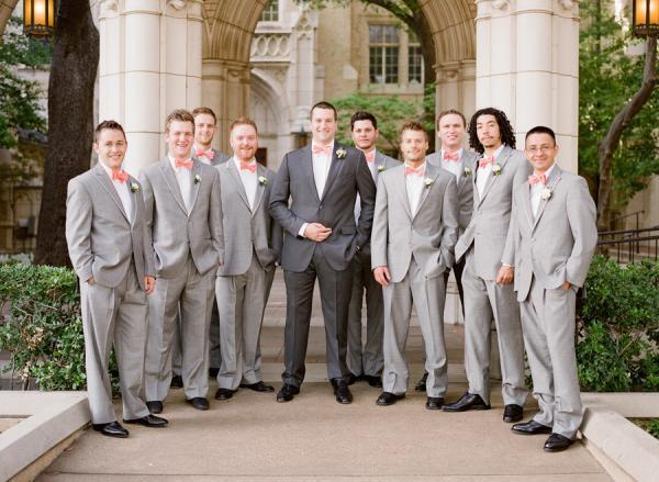 2015 New Light Grey Groomsmen Suits Groom Tuxedos Men's Suit For ...