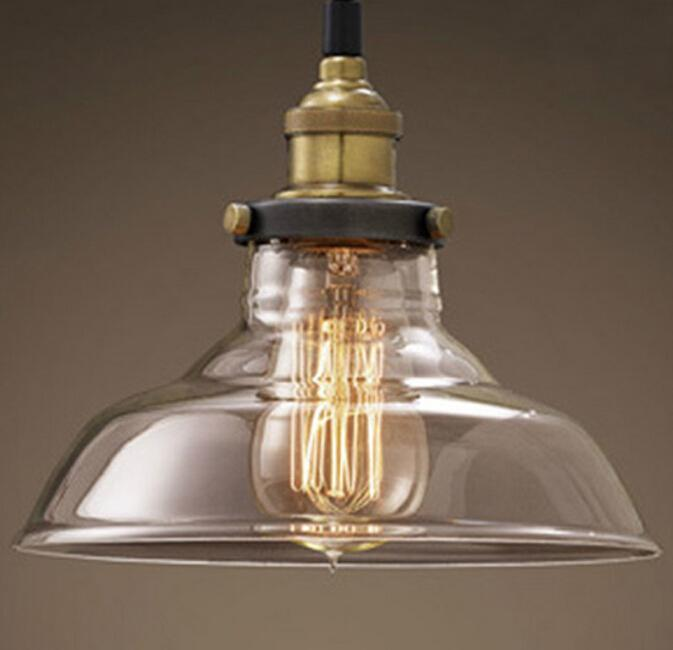 Rh Loft Pendant Lights Nordic American Glass Bowl Hanging Lamp – Hanging Edison Bulb Chandelier