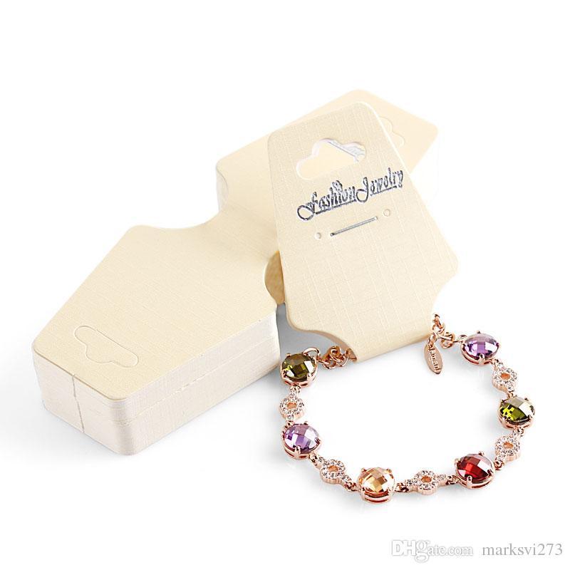 Diy Bracelet Display Card: 2017 English Letter Fashion Jewelry Necklace Bracelet Card