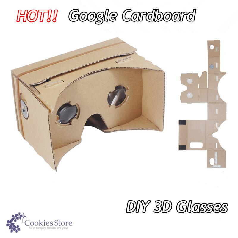 diy google cardboard virtual reality vr mobile phone 3d glasses by unofficial cardboard 3d. Black Bedroom Furniture Sets. Home Design Ideas