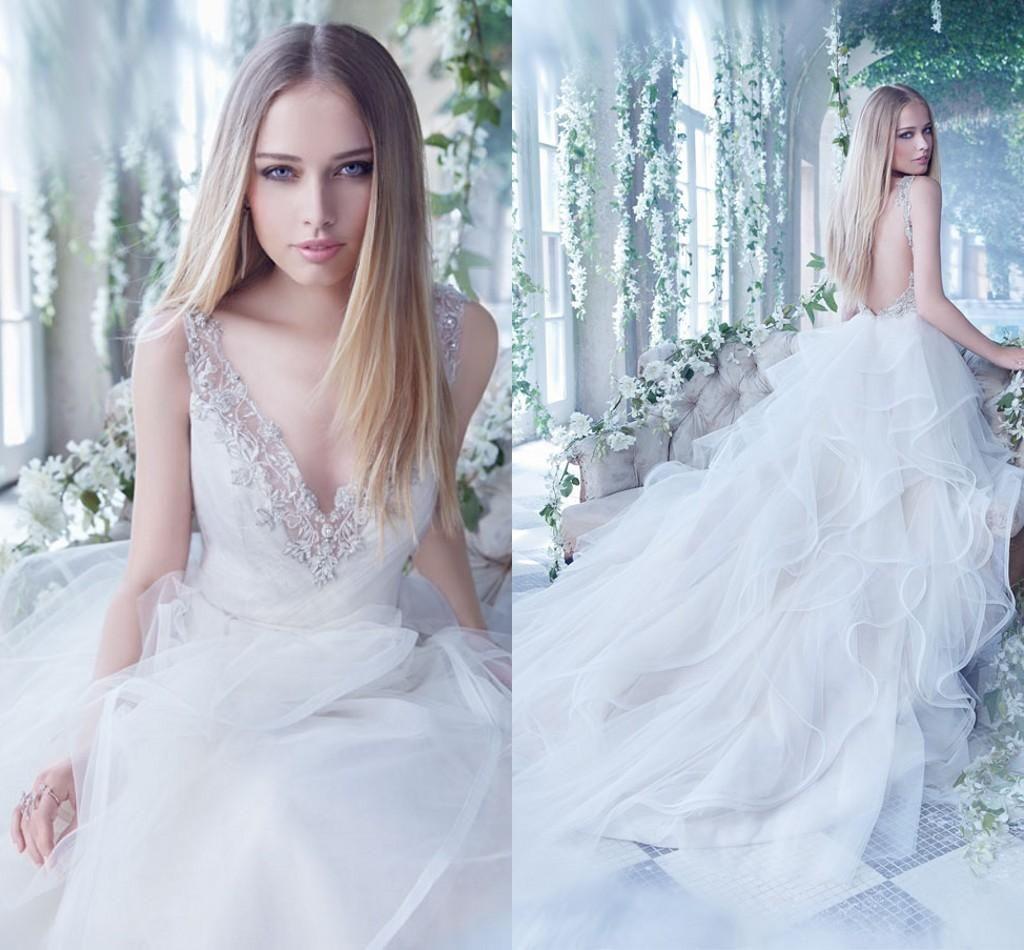 Bohemian Wedding Dresses 2016 Spring Summer Alvina Valenta V Neck