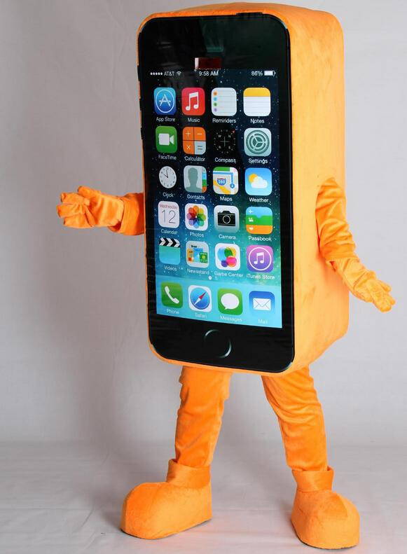 iphone costume. iphone 6 mascot costume fancy dress christmas party cartoon characters clothing dolls costumes p