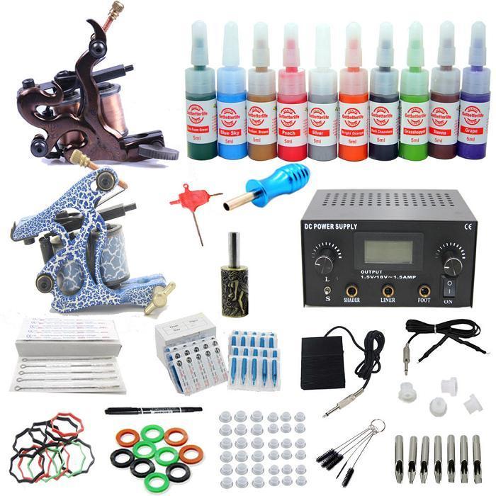 Usa dispatch pro complete starter tattoo kits 2 machine for Starter tattoo kits