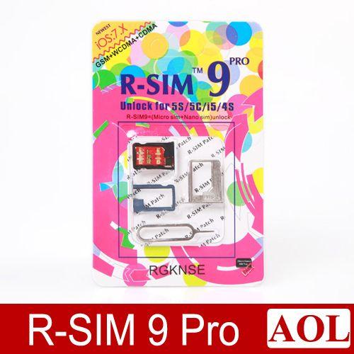 R-SIM Rsim 9 RSIM9 PRO Unlock for iphone 5s 5c 5g 4s IOS 7.0 -7.X GSM CDMA WCDMA japan Domoco ATT Verizon UK T-mobile