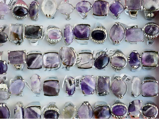 2017 Rings Wholesale Jewelry Resale Charm Natural Amethyst ...