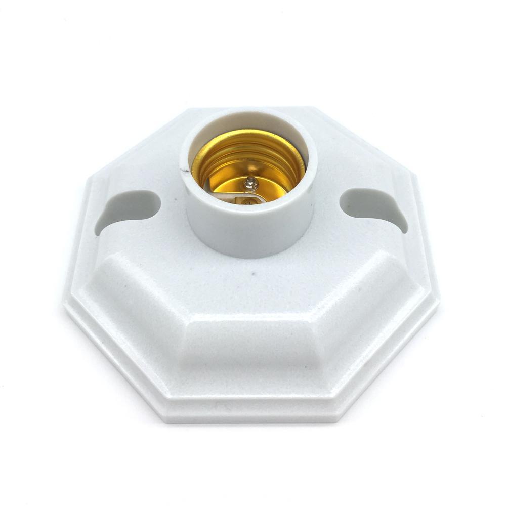 best e27 led lights adapter flat lamp holder fitting led bulbs cfl the octagonal screw cap type. Black Bedroom Furniture Sets. Home Design Ideas
