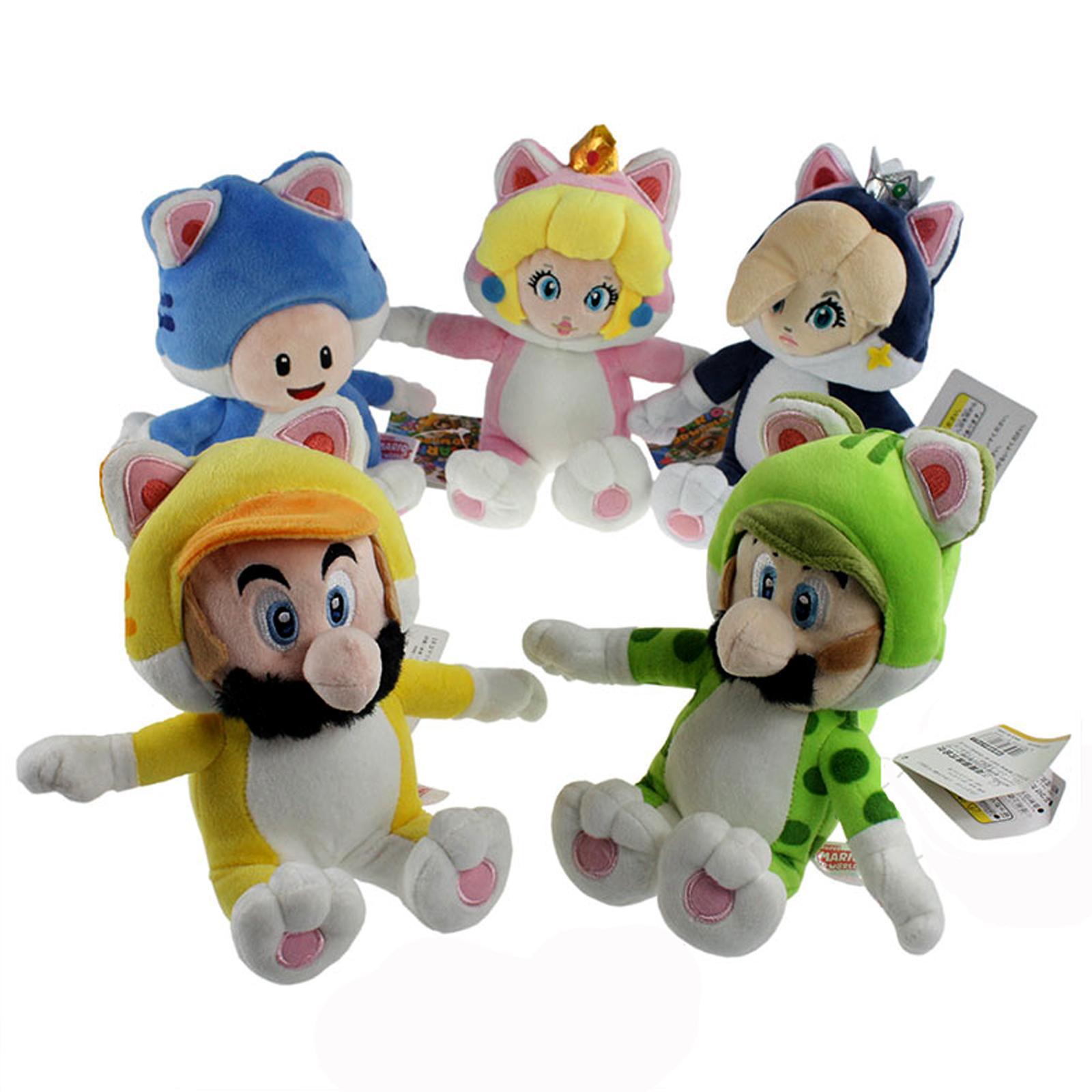 2018 5x Super Mario 3d World Cat Mario Luigi Princess ...