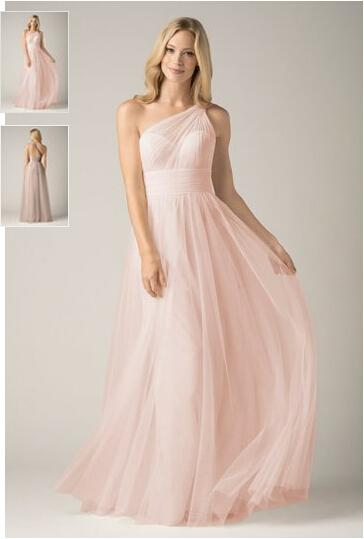 Wtoo Full Length Bridesmaid Dresses In Bobbinet One