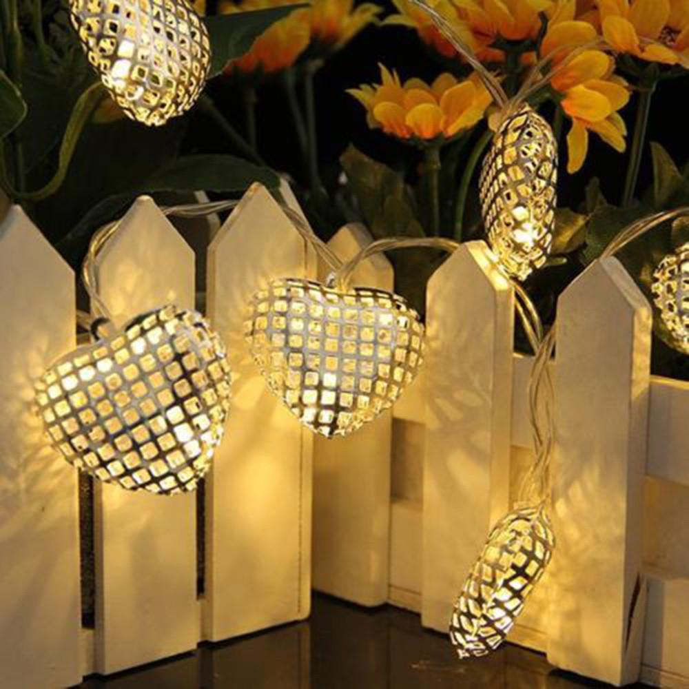 Hot Sale 20 Led Heats Moroccan Batteries String Lights Led Fairy Lights Outdoor Garden Party Festival Christmas Decoration Ball Lamp