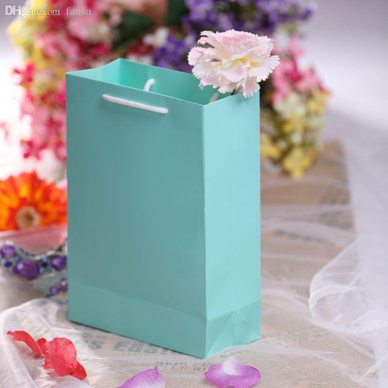 Average Wedding Gift Cost 2015 : Wholesale-2015 Plain Tiffany Blue Wedding Gift Bags Personalized Logo ...