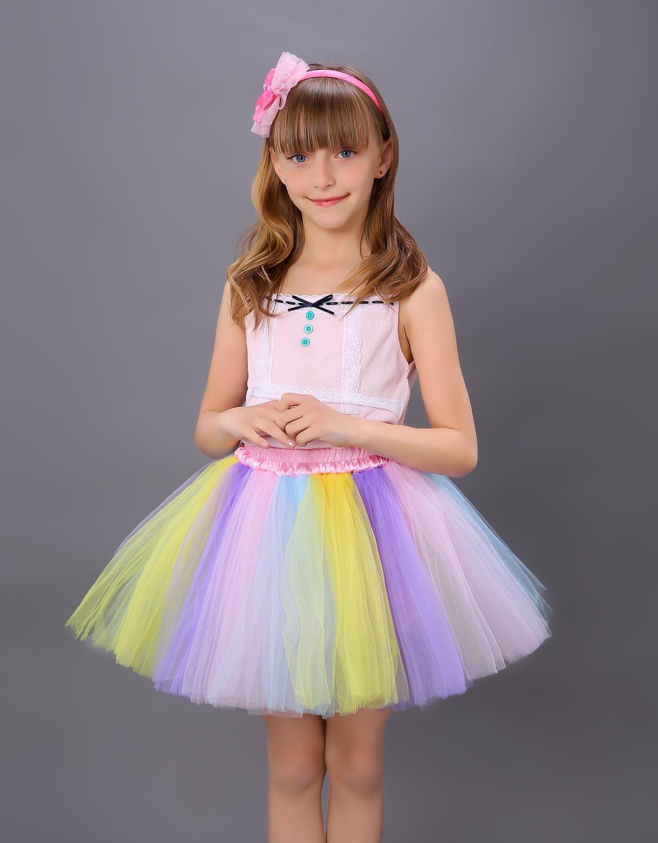 2017 2015 New Airival Cute Little Girls Dress Tutu Bubble Puff ...