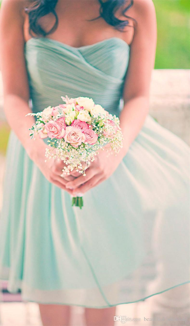 2015 summer beach mint green bridesmaid dresses with for Green beach wedding dresses