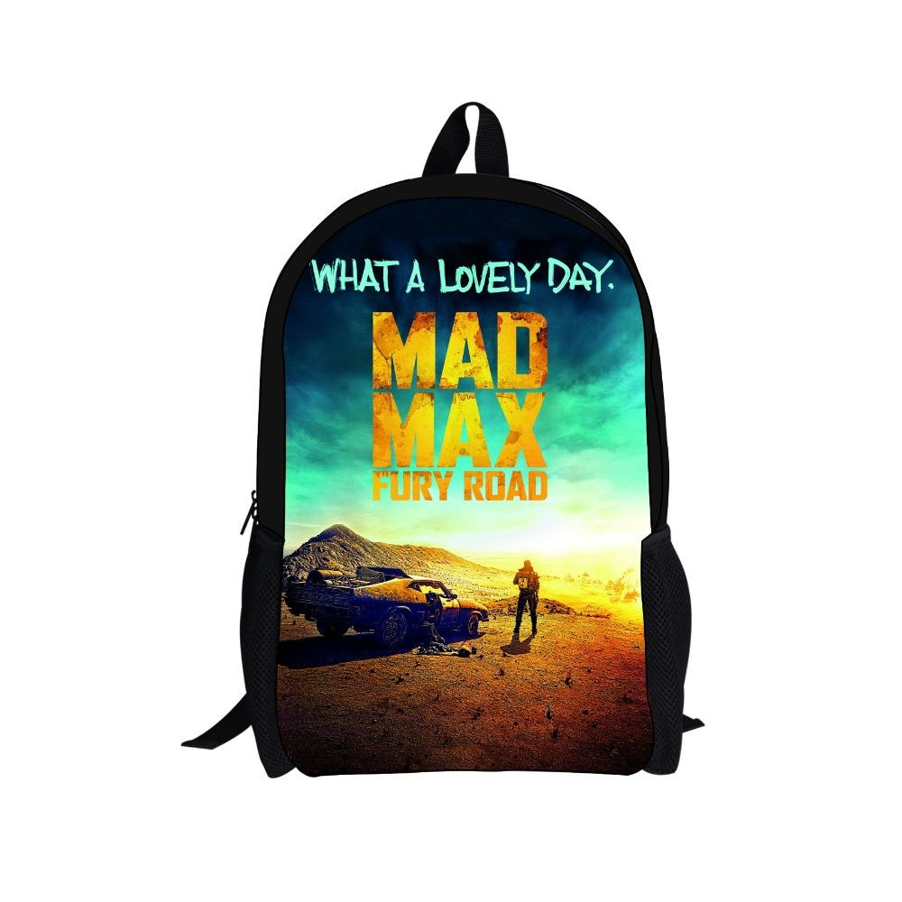 Newest Mad Max Fury Road Backpack Children Backpacks For Boys ...