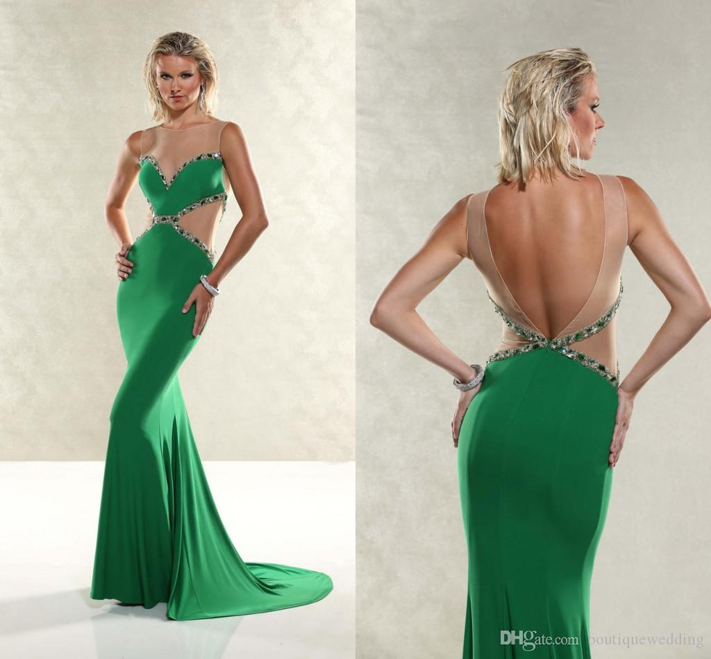 Xtreme Lime Green Mermaid Prom Dresses 2015 Bling Formal Gowns ...