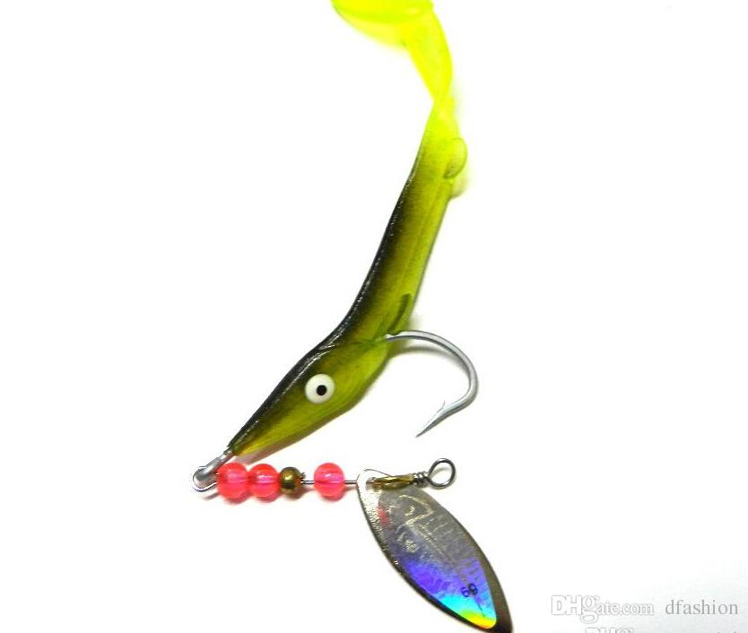 soft plastic worms lures zoom bait 6.2g trolling laser spoon, Soft Baits