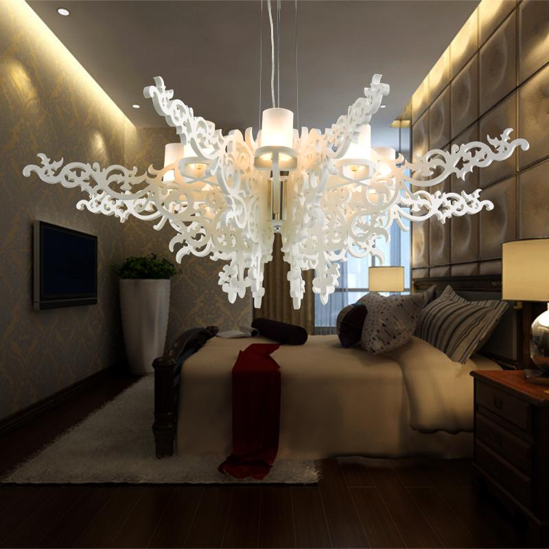 stylish lighting living. stylish angel wings pendant lamp luxruy 8 lights living room stair suspension modern chandelier fixtures acrylic lighting
