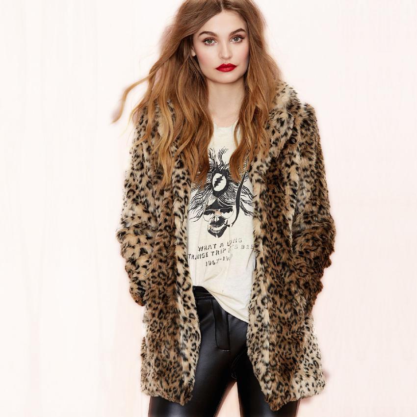 Luxury Winter Coats Women Fur Coat Domineering Feral Faux Fur ...