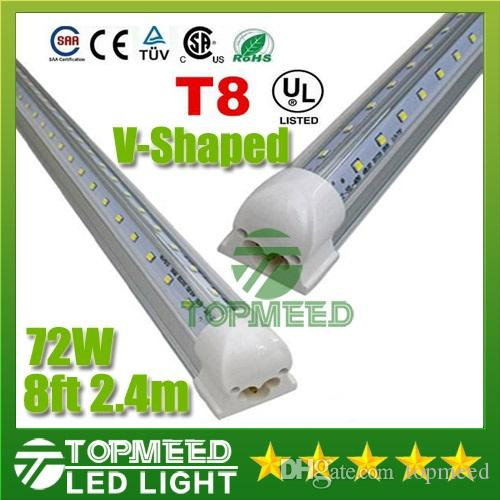 v shaped t8 led tube lights 72w 8ft 2 4m integrated cooler door v shaped t8 led tube lights 72w 8ft 2 4m integrated cooler door led fluorescent tubes light lamp 270angle double glow lighting 110 277v 50 led tube led