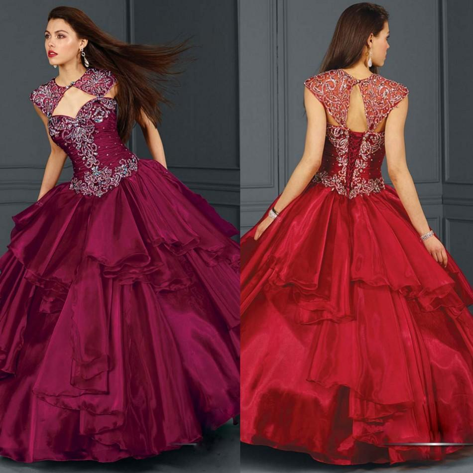 2015 Christmas Quinceanera Dresses Ball Gown With ...
