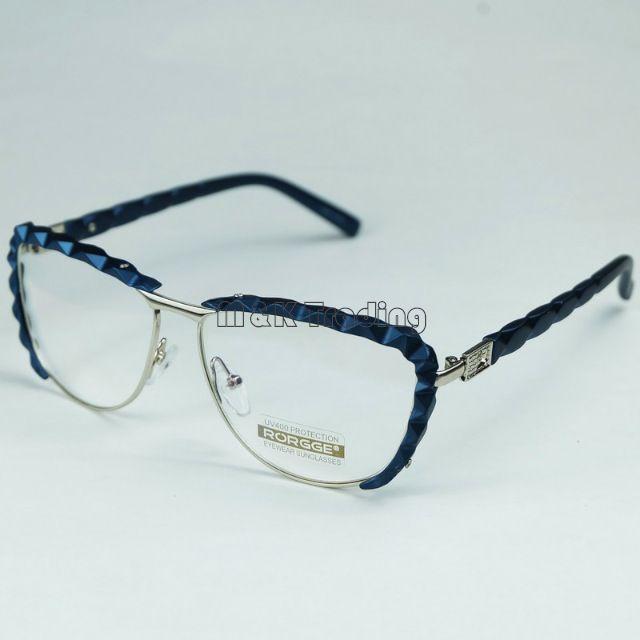 Glasses Frames With Diamonds : Fashion Women Optical Frame Shiny Diamond Shape Rim ...