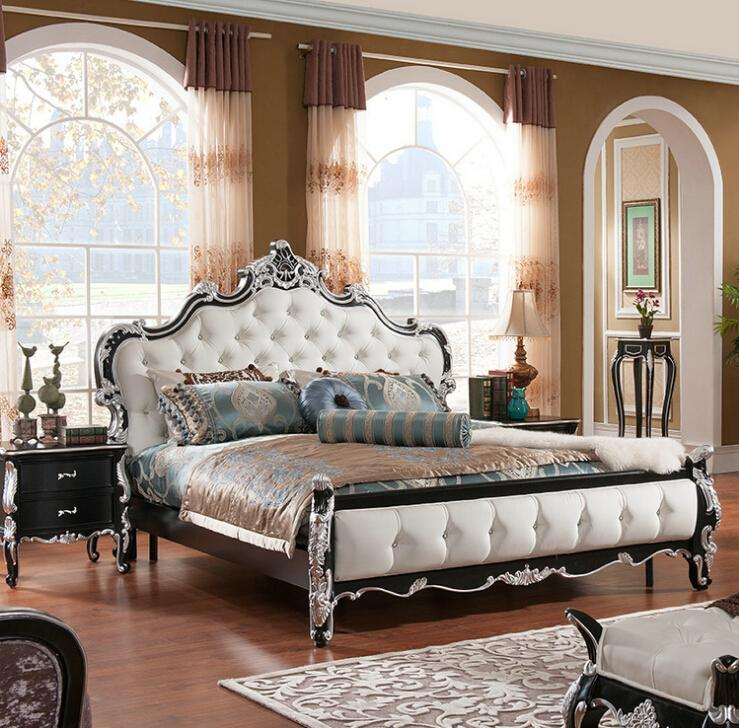 Factory Price Royal Bed Fashion European French Carved Bed