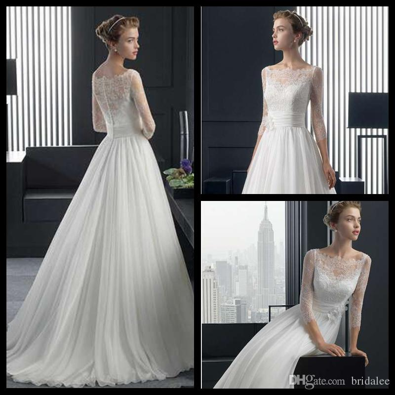 Under 100 wedding dresses 2015 princess style with three for Informal wedding dresses under 100