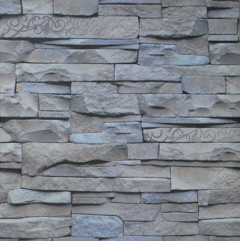 modern design chinese retro 3d effect grey brick wallpaper