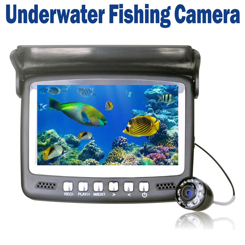 4 3 lcd underwater video camera fish finder hd 800tvl 30m for Best underwater fishing camera