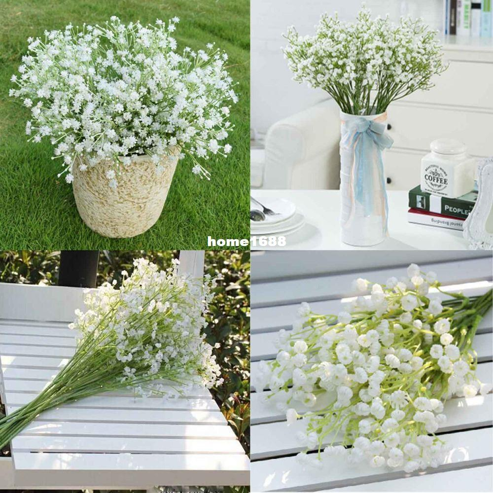 48pcs Lot Gypsophila Baby Breath Fake Silk Artificial Flowers Plant For Home Wedding Party Home Decoration Products