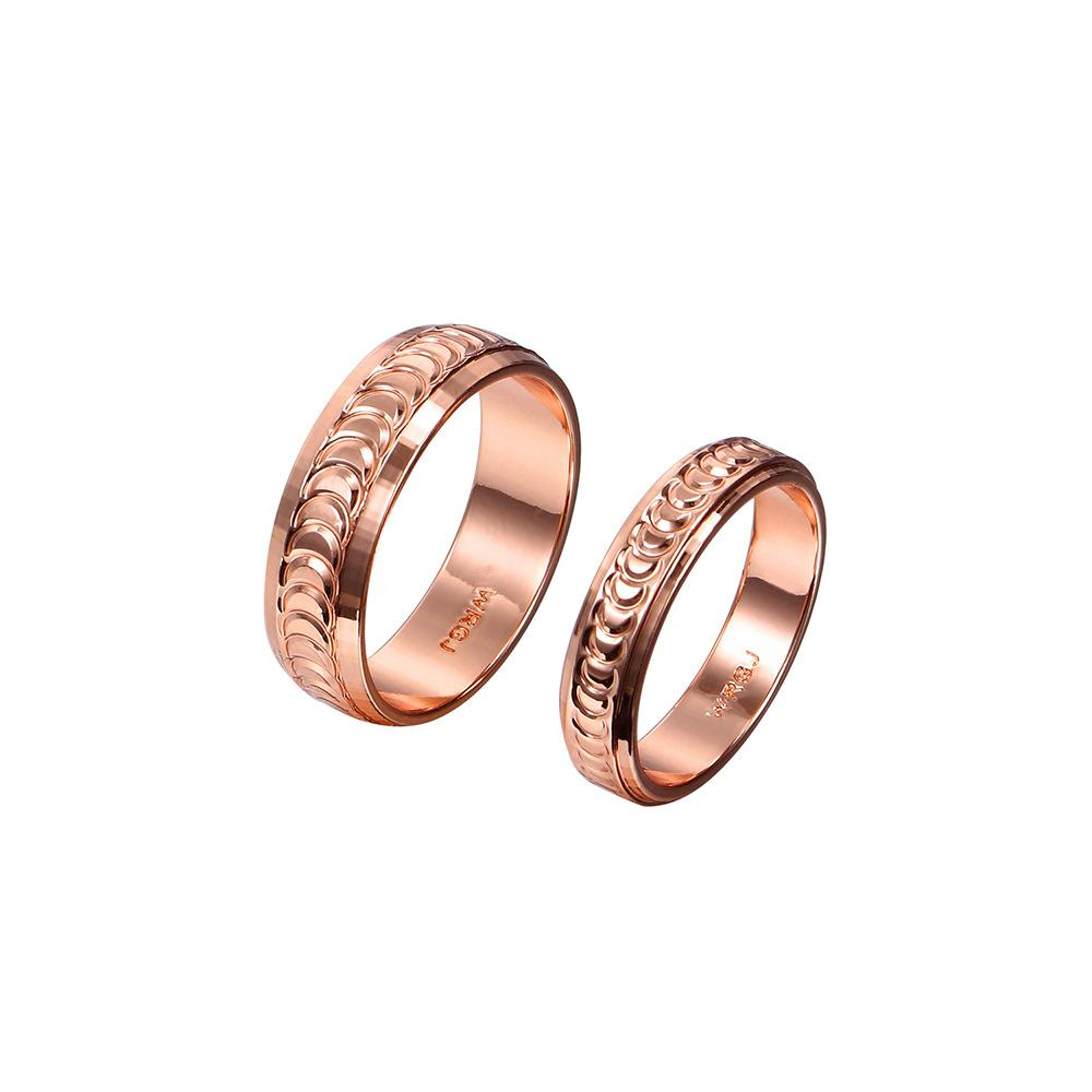 Rose Gold Couple Rings Fashion Promise Engagement Rings for Men ...