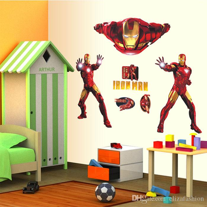 Iron Man Wall Stickers Wall Art Stickers Nursery Wall Decals Kids Room Wall  Decor Removable Stickers Posters In Stock Cartoon Wall Stickers Iron Man  Iron ...