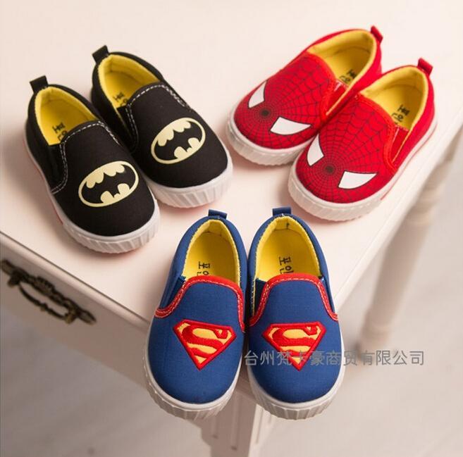Batman Spiderman Superman Boys Shoes Cartoon Kids Sports Shoes ...