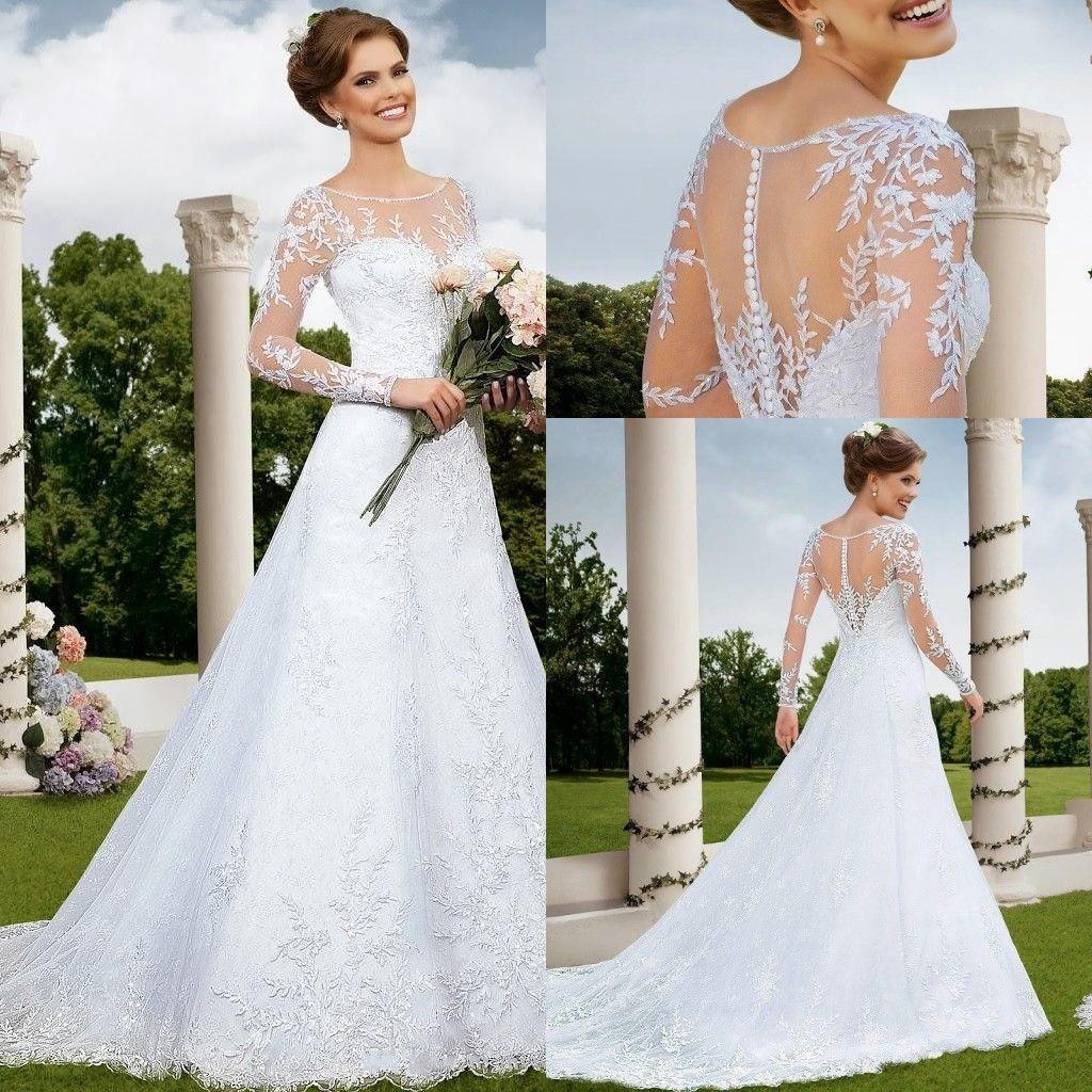 Long Sleeve Wedding Dresses Under 300 - Plus Size Tops