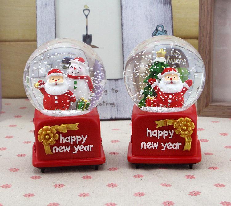 Christmas Decorations , Santa Claus Mechanical Movement Crystal ...