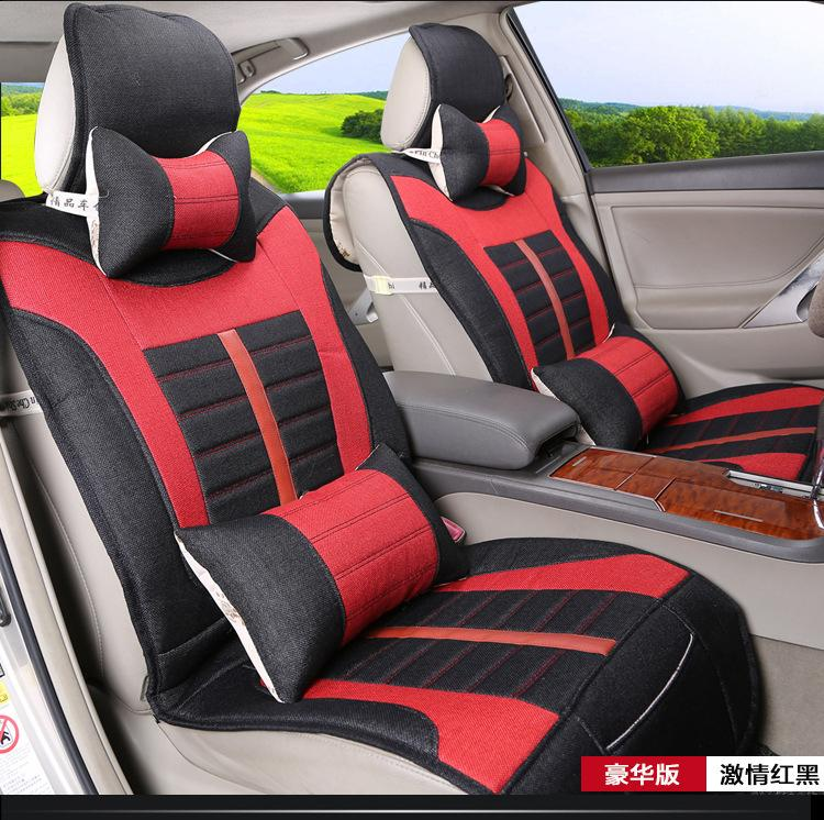 2015 Black Red Car Seat Covers Interior Automobiles