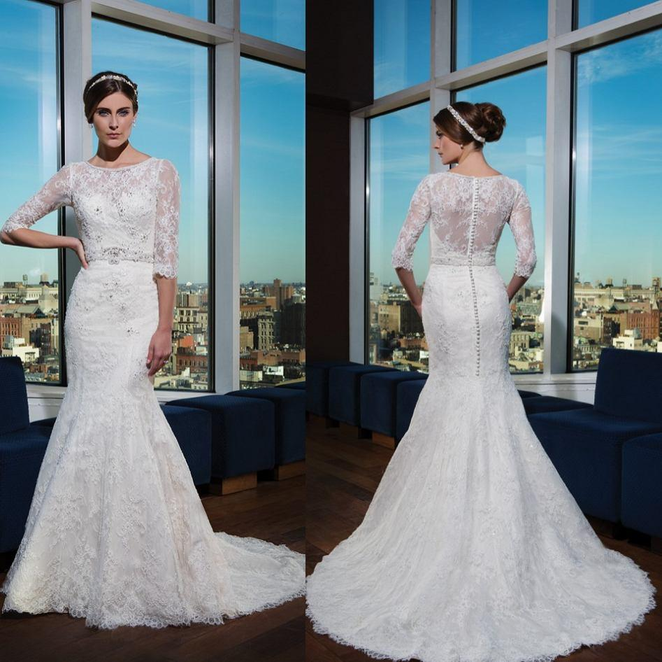 Justin alexander 2015 lace beaded mermaid wedding dress for Mermaid wedding dresses under 500