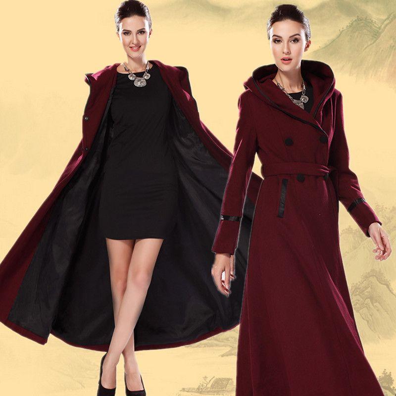 2017 2014 Europe America Women X Long Wool Coat New Autumn Winter