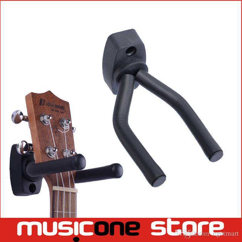 guitar violin stand hanger hook holder wall mount display adjustable width fits all size guitar including anchors and screws mu0303 short guitar wall hanger