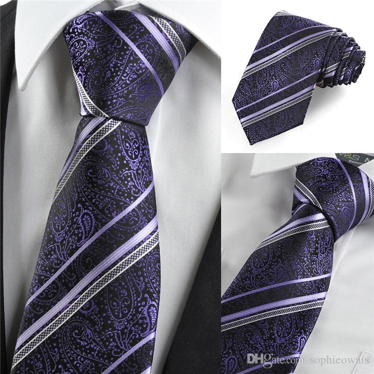 Purple Paisley Suit Purple Paisley Floral Striped