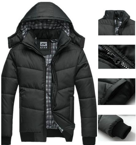 Discount Winter Coat Men Quilted Black Puffer Jacket Warm Fashion