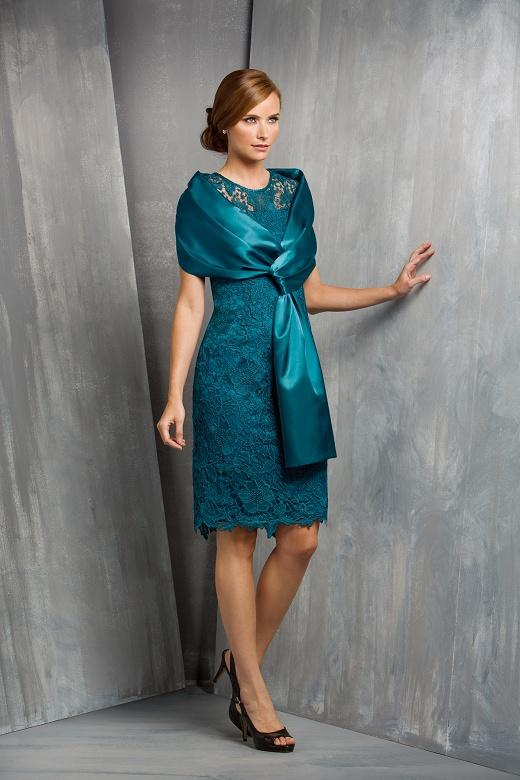 Plus Size Emerald Green Lace Dress Mother Of The Bride With Wraps ...