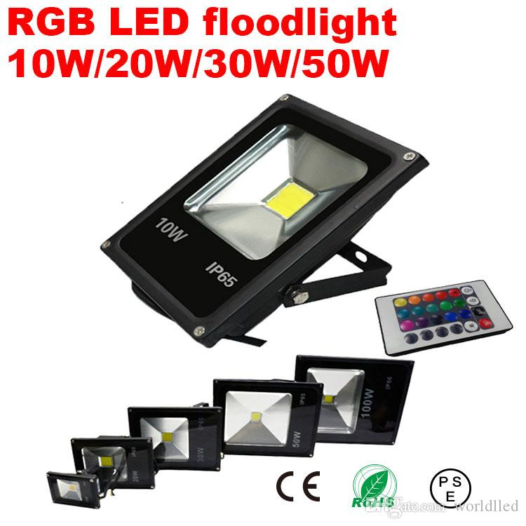 Rgb reflector led flood light exterior focos led lamp for Focos led exterior 50w