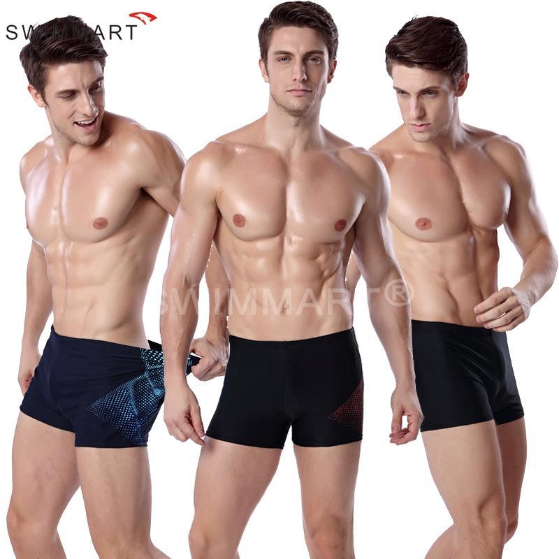 Men's Fashion Sports Swimming Print Underwear Boxer Trunks Straight Four Corners Swimming Pants Swimsuit 2 Colour Size L,XL,XXL,XXXL MS013