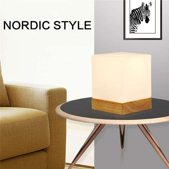 Creative Ice Cube Small Table Lamp Bedroom Bedside European Style Table  Light Modern Minimalist Solid Wood Desk Lamp Ice Cube Desk Lamp Wood Table  Lamps. Creative Ice Cube Small Table Lamp Bedroom Bedside European Style