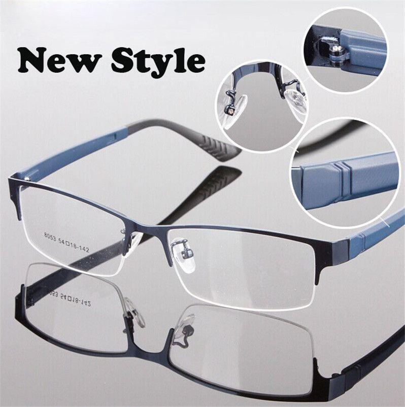 Eyeglass Frame Picker : Fashion Brand Designer Spectacle Eyeglasses Metal Half Rim ...