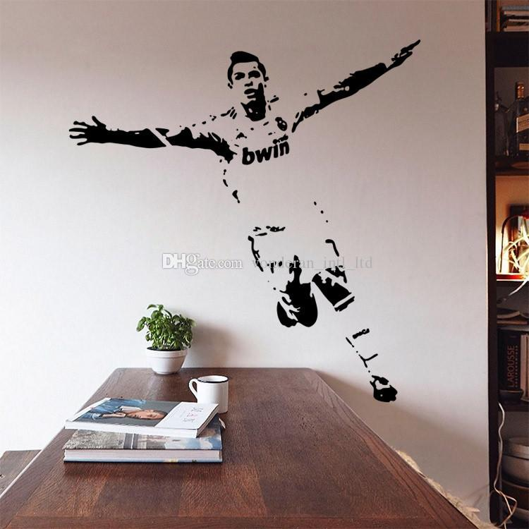 New vinyl removable pvc art mural football cristiano for Cristiano ronaldo wall mural