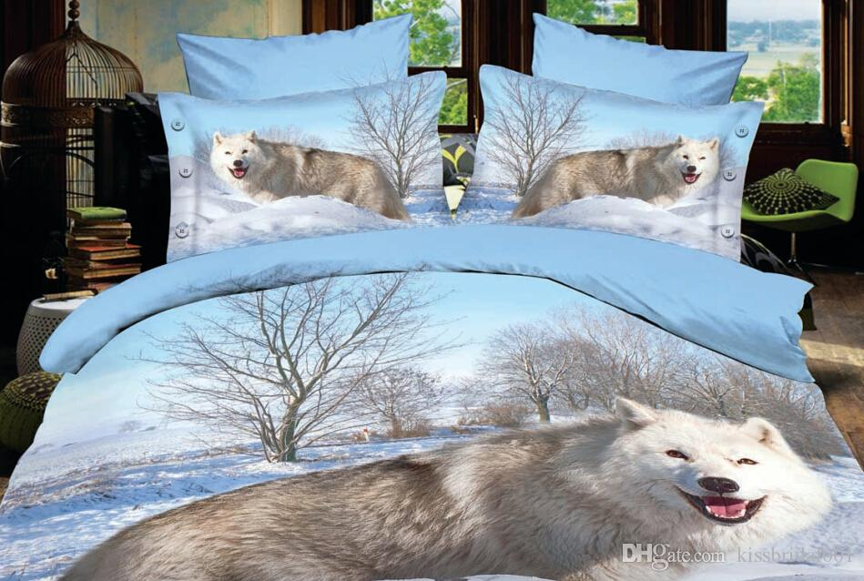 Wolf 3d Printing Animal Bedding Comforter Set Printed