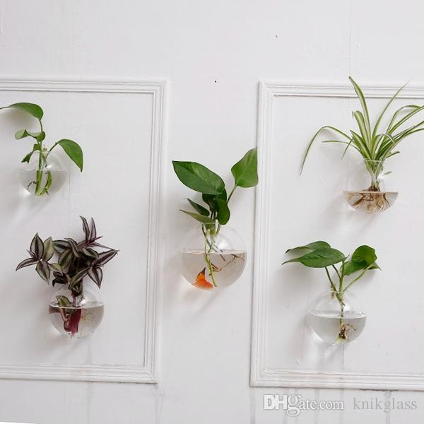 Hanging Wall Planter crystal glass wall planters,hanging wall air plants bread